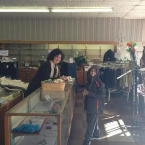 My son buying a present for his Mom from Yvette Deraney in December 2012